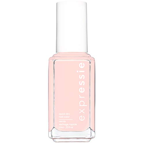 essie expressie quick-dry nail polish, soft pink beige nail polish, crop top & roll, 0.33 fl. oz.