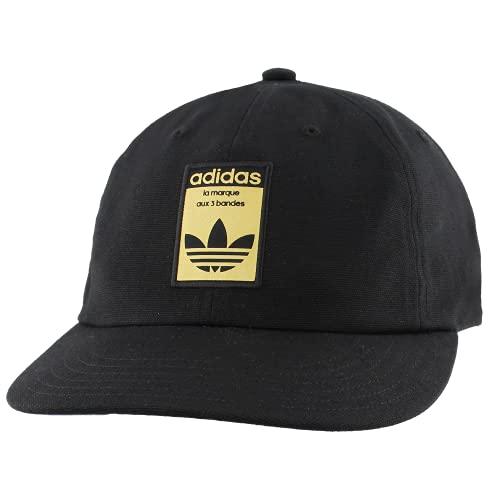 adidas Originals Gorra para Hombre Relaxed Base, Color Negro/Dorado, Talla única