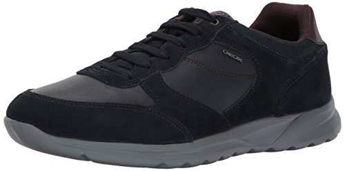 Geox Herren Modische Sneaker, Navy, 42 EU