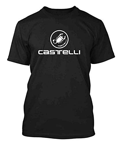 Malcolm Castelli Cycling Bike New Men's Black T-Shirt Black XL