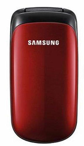 Samsung E1150 Cellulare (Lunga durata delle batterie), colore: Rosso