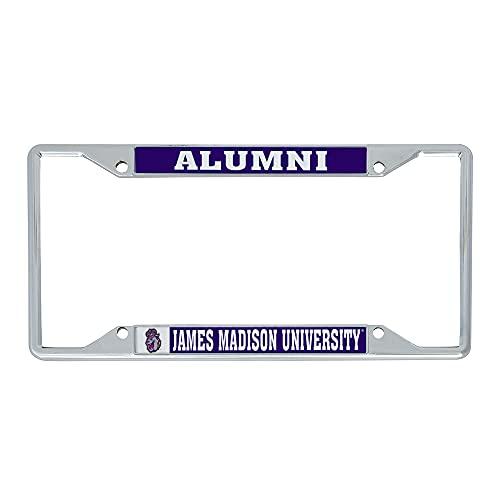 James Madison University JMU Dukes Metal License Plate Frame for Front or Back of Car Officially Licensed (Alumni)