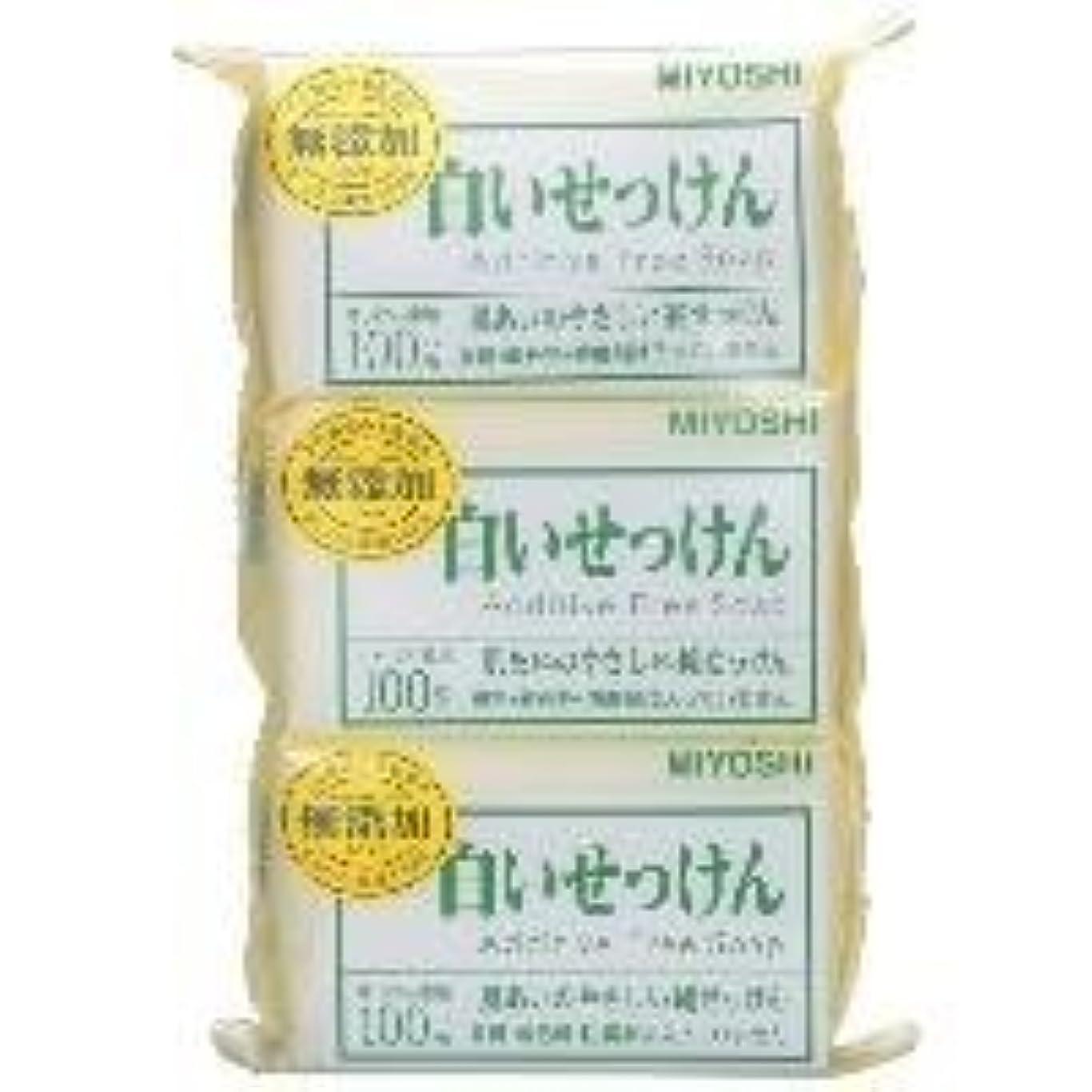 虹ウッズナラーバー【MIYOSHI】無添加 白いせっけん 108g×3個入