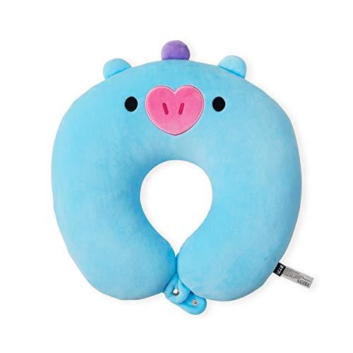 BT21 Baby Series MANG - Almohada de cuello de viaje suave, diseño de personaje, azul/morado
