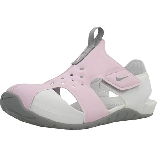 Nike Sunray Protect 2, Scarpe da Passeggio Bimbo 0-24, Lila Helado/Partícula Gris/Polvo Fotón, 27 EU
