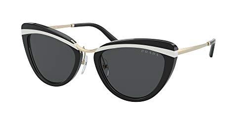 Prada - Gafas de sol unisex para adulto PR 25XS negro, blanco y negro. 55