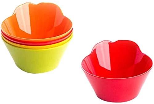 GLLP Plato de cena, multicolor, placa de seguridad PP ligera e irrompible, no tóxica, sin BPA, apto para niños y adultos
