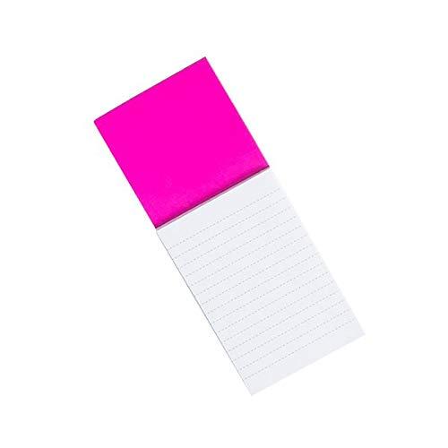 Bloc Notas Nevera Imán Magnético Colores Libretas Bonitas Pequeña Adhesivas Compra (FUCSIA)