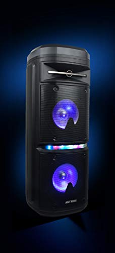 Ant Audio Rock 600 Party Entertainment Speaker with Karaoke with FM Radio, Micro SD Card, USB, Wireless Mic, LED Lights and Subwoofer – 60 watt