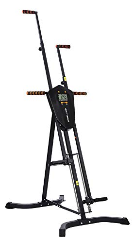 Sportsroyals Vertical Climber, Folded Climbing Cardio Exercise Equipment Full Body Workout for Women Men, Stair Climber with 5 Height Adjustable and Digital Monitor
