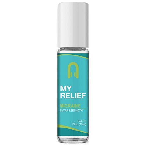 All-Natural My Relief Migraine Stick Essential Oil Roll-On by Aculief – Proprietary Blend for Migraine Relief, Tension, Stress and Headaches – Simple, Easy & Effective – (.3 Ounce)