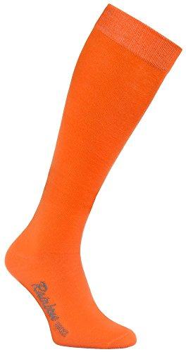 Rainbow Socks - Damen Herren Bunte Baumwolle Kniestrümpfe - 1 Par - Orange - Größen 39-41