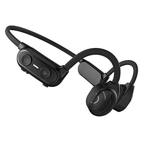 HKJZ SFLRW Auriculares de conducción ósea, Auriculares inalámbricos de la Oreja Abierta de 5,0 Bluetooth, Sonido, Auriculares Deportivos ultraligeros, Impermeables y Sudor