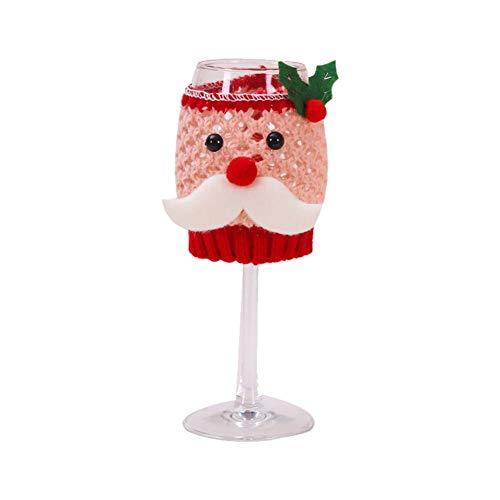 tingtin Cubiertas De Botellas De Vino De Navidad, Muñeco De Nieve De Lindo/Cubierta De Copa De Vino De Lana De...