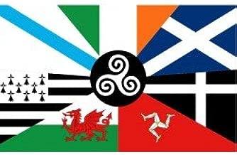 Durabol Bandera de Países Celtas - Naciones celtas - Celtas Europa150 x 90 cm Celtic flag Europe Flag