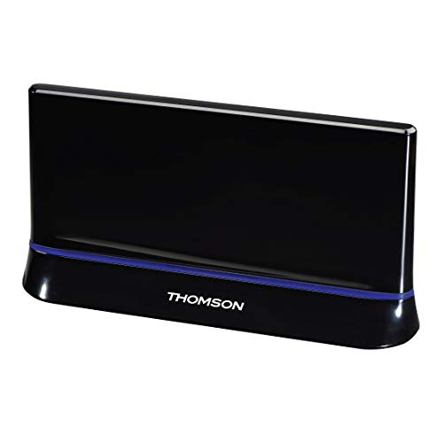 Thomson ANT1538 Zimmer-Antenne (für TV/Radio, HDTV/3D, DVB-T/DVB-T2, aktiv, mit Signalverstärkung, Performance 45)