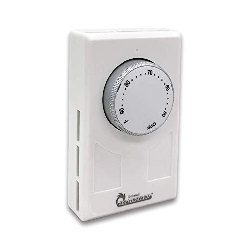 Dr. Infrared Heater DR-001 Wall Thermostat 4 wires single or Double poles 120-277V 3360-7756W, White.