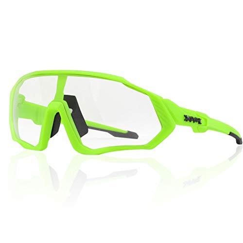 KAPVOE NEU Original TR90 Herren Damen Sport Sonnenbrille Photochrom Polarisiert Neu Radfahren Laufbrille Outdoor Radfahren Laufen Geeignetes Camping alle Arten von Gesichtsformen (C24)