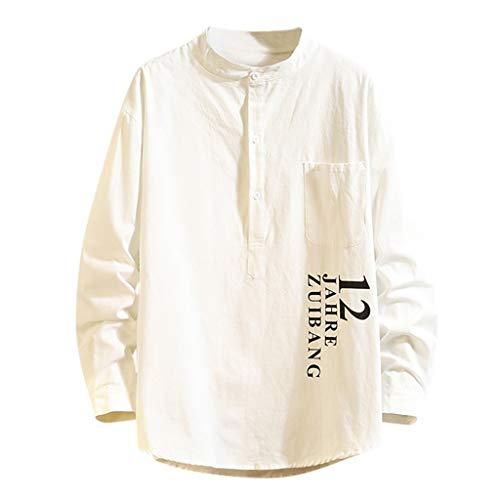 Aster JaKi メンズ シャツ カジュアル ポロ ゆったり 長袖 トップス 無地 シンプル 上質 大きいサイズ 秋服 M~5XL