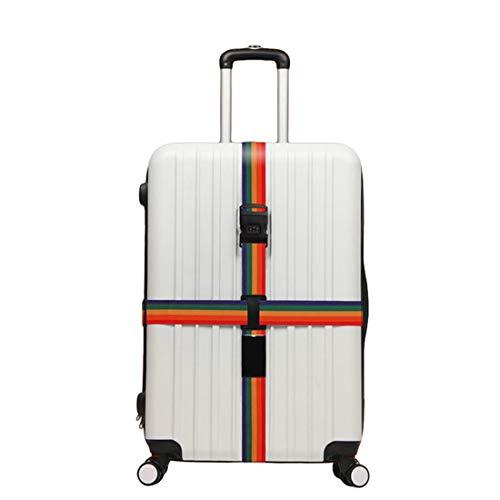 WanYangg Koffergurt, Kofferband Gepäckgurt TSA Gepäckgurt Koffer rutschfest Kreuz Reise Gurt Luggage Gepäck Strap Mit Zahlenschloss Mehrfarbig 200 * 5+230 * 5cm
