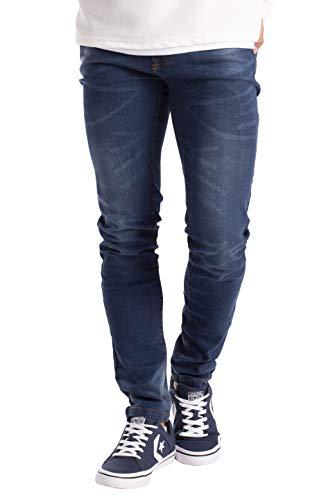 BlauerHafen Herren Slim Fit Jeanshose Stretch Designer Hose Super Flex Denim Pants (40W / 30L, Dunkelblau)
