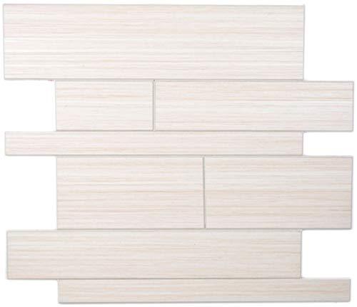 Wandpaneele selbstklebend Holzoptik Wood White Küchenrückwand Fliesenspiegel - MOS200-53WWL