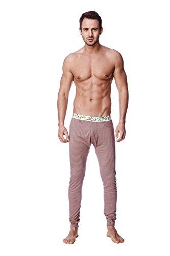 4-rth Crosstrain Thermal Yoga Pant (Small, Red & Grey Stripe)