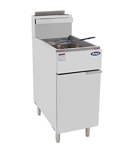 Atosa USA ATFS-40 (High BTU 102k) Heavy Duty 40 lbs Stainless Steel Deep Fryer - Natrual Gas
