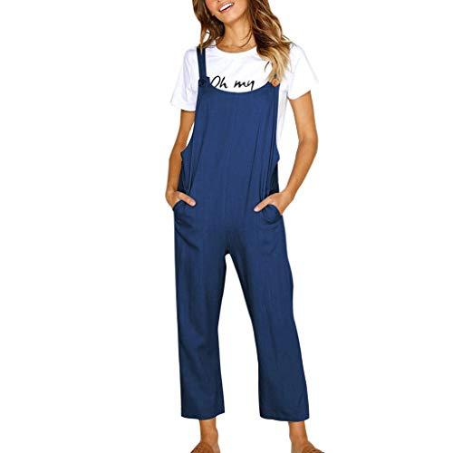 Luckycat Mono Mujer Corto Verano Casual Pantalones Ropa Elegante Vestir Cintura Alta...