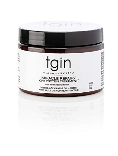 tgin Miracle Repairx Curl Protein Reconstructor (CPR) For Heat Damaged Hair - Restore - Protect - Repair - Curly Hair - 12 Oz