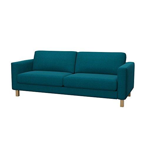 Soferia Bezug fur IKEA KARLSTAD 3er-Bettsofa, Stoff Elegance Turquoise