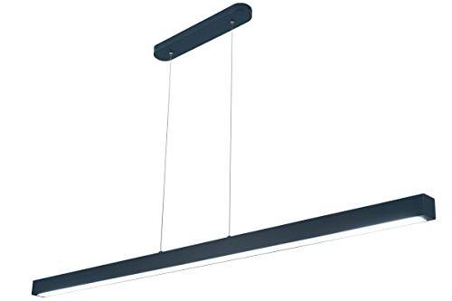 LED Hängeleuchte HausLeuchten WI120LED-Anthrazit Neutralweißes Licht 4000K / 120cm / 1998lm Höhenverstellbar Deckenlampe Deckenleuchte Pendelleuchte Leuchte (Anthrazit/Neutralweißes Licht 4000K)