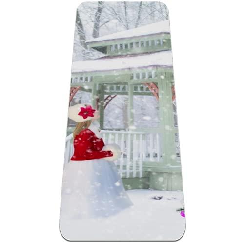 Alfombrilla de yoga de invierno con diseño de árbol de Navidad, antideslizante, respetuosa con el medio ambiente, para yoga, pilates y ejercicios de piso, 183 x 81 cm