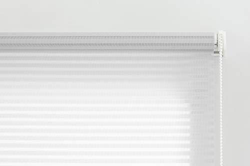 Estoralis Robert Estor Enrollable translucido Liso, Poliester, Blanco, 130 x 190 cm