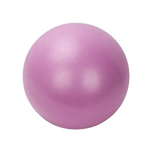 AutoRocking Mini pelota de gimnasia de PVC, 25 cm, pequeña, para pilates, fitness, abdominales, masaje, antideslizante y superligera, color lila