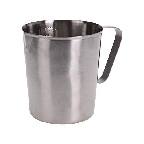 Koopman 90327 Caraffa graduata in acciaio inox, argento, 11,8 x 9,6 x 13 cm
