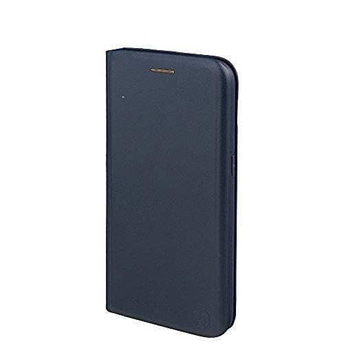 Nouske Lederklapphülle für Samsung Galaxy S7 Tasche Hülle handgefertigt geschwungene Kanten mit Aufsteller und Kartenfach TPU Schutzhülle Cover Marineblau.