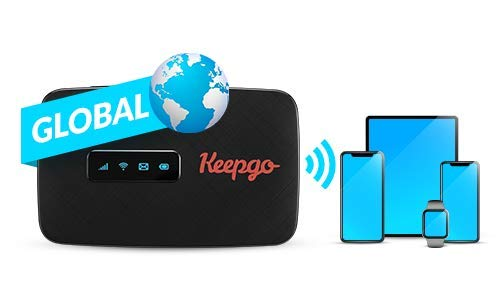 Keepgo Global Lifetime 4G/LTE Mobile WiFi Hotspot for Europe, Asia & The Americas +...