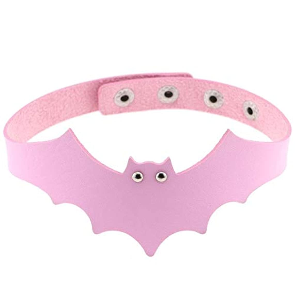 Halloween Cool PU Leather Bat Wing Choker Collar Gothic Necklace Women Punk Leather Harness Anime Necklaces Neck Chocker Jewelry