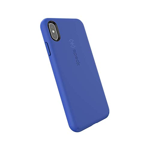 Speck Products CandyShell Fit iPhone Xs Max Case, Blueberry Blue/Blueberry Blue