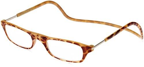 [クリックリーダー] 老眼鏡 Clic Readers メンズ ブロンドデミ +1.50-(FREEサイズ)