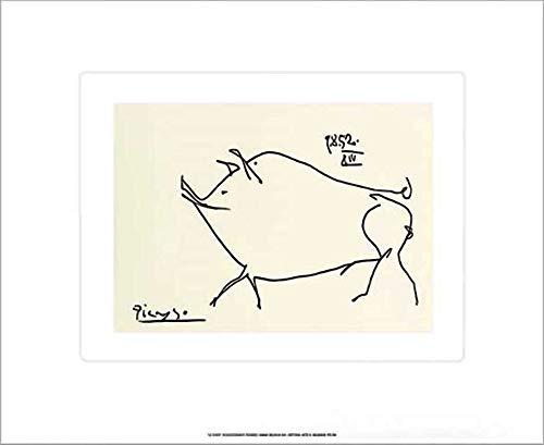 Kunstdruck/Poster: Pablo Picasso Petit cochon - hochwertiger Druck, Bild, Kunstposter, 60x50 cm