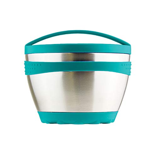Kid Basix Safe Bowl | Reusable Stainless Steel Lunch Container for Adults | Thermos for Hot & Cold Food Storage | Dishwasher Safe | 16oz | Teal