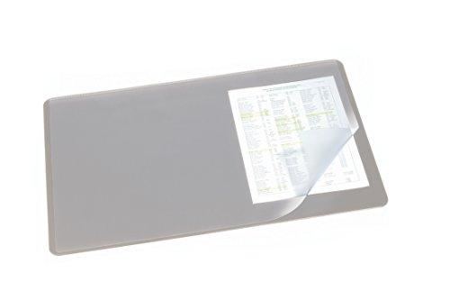 Durable 720210 Sous-main avec Rabat Transparent Format Bureau 53 x 40 cm Gris