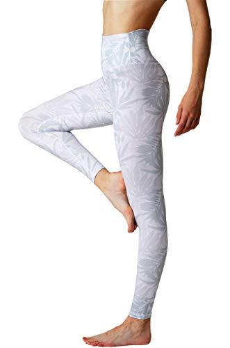SENXINGYAN Leggings Mujer Cintura Alta Deportes Yoga Largos Elásticos y Transpirables Para Pantalones Gym Fitness de Running Ejercicio Mallas,Blanco,M