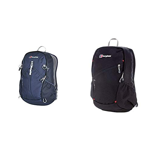 Berghaus TwentyFourSeven Plus 25 Litre Outdoor Rucksack Backpack, Blue & TwentyFourSeven Plus 20 Litre Outdoor Rucksack Backpack, Black
