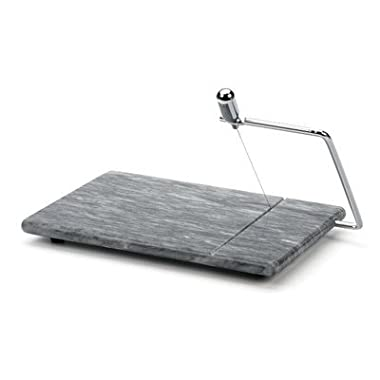 RSVP Polished 8 x 5 Grey Marble Board Cheese Slicer