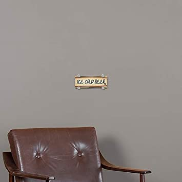 Ice Cold Beer 8x3 Nostalgia Stripes Premium Acrylic Sign CGSignLab 5-Pack