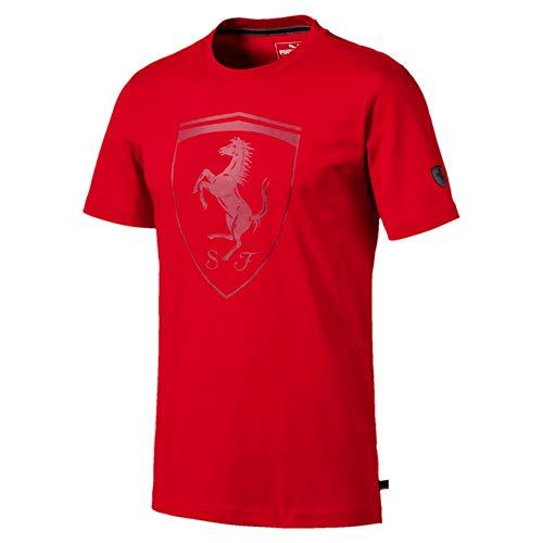 PUMA Ferrari Big Shield Herren T-Shirt Rosso Corsa M