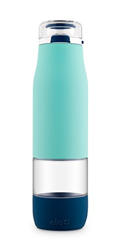 Ello Aura 24oz Glass Hydration Bottle Blue
